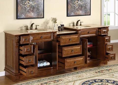 Streamlining Storage Options For Large Antique Bathroom Vanities