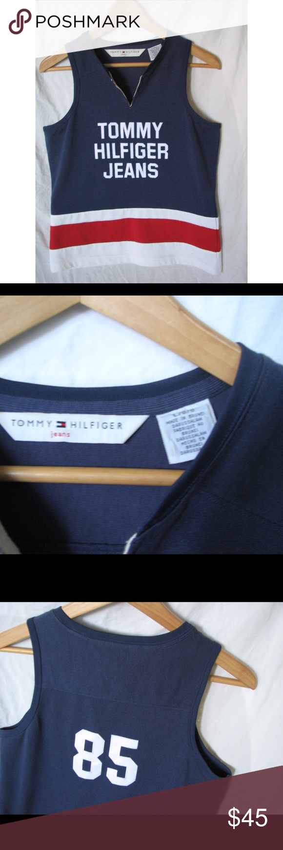 Vintage Tommy Hilfiger Jersey Amazing condition, perfect fit Tommy Hilfiger Tops Muscle Tees