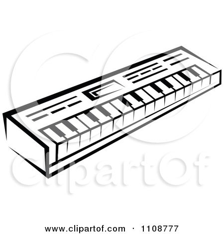 free music graphics | Clipart Black And White Keyboard Musical ...