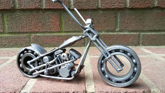 Weld Art Harley Hardtail Springer Chopper Motorcycle | welding art