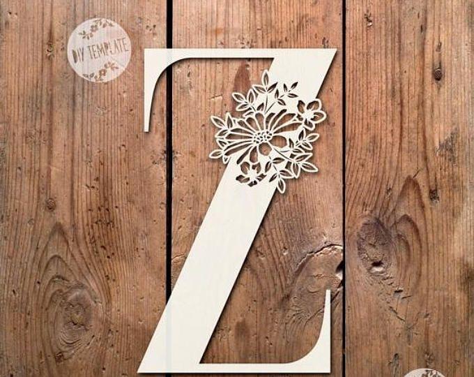 40% sale floral letter z svg pdf design papercutting vinyl