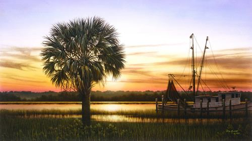 Quot Palmetto Sunset Quot By Jim Booth Inspiration From The Dock