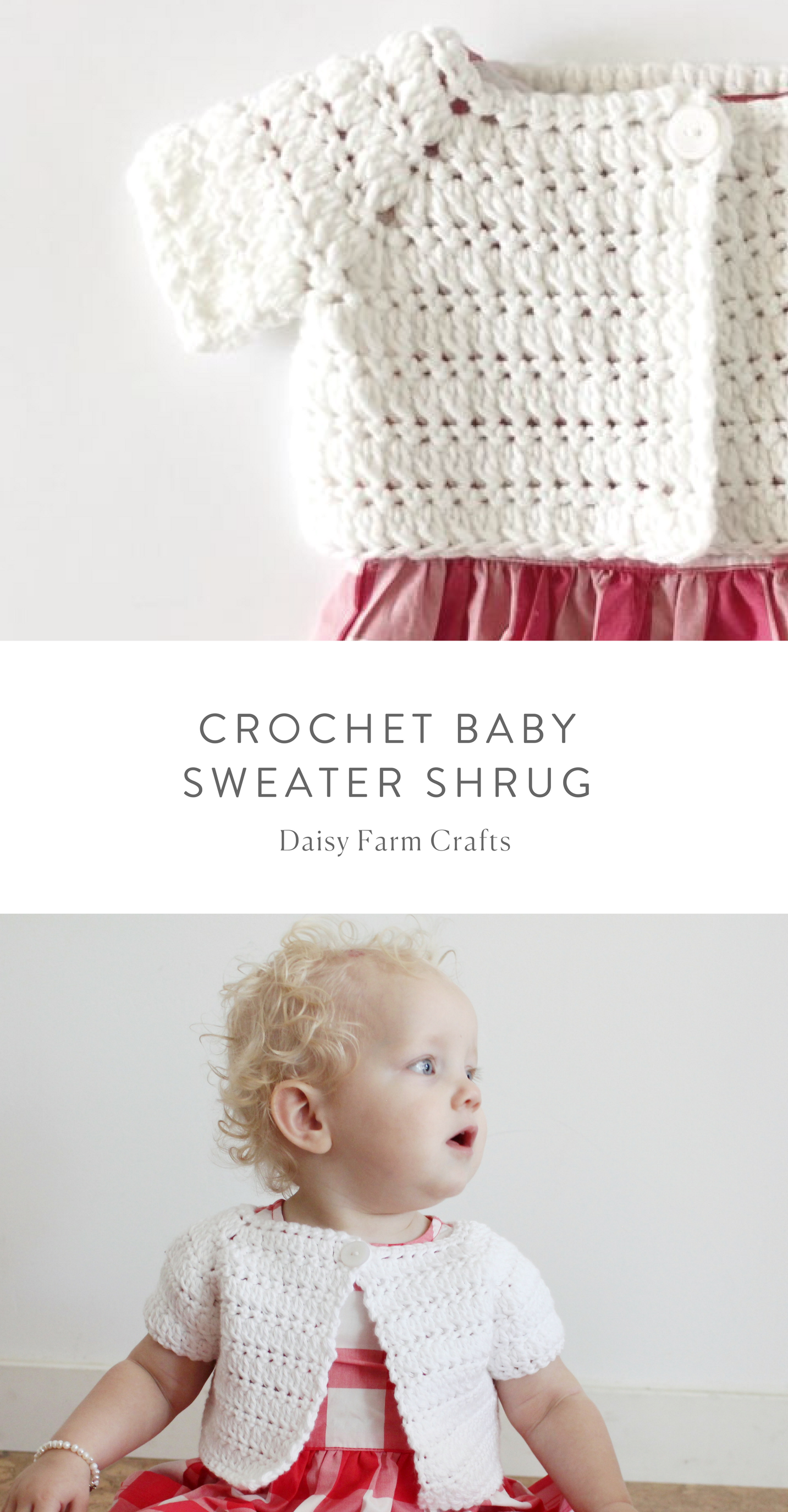 Free Pattern - Crochet Baby Sweater Shrug | Baby pattern | Pinterest ...