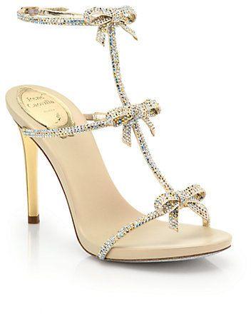5f39a174075cb2 Rene Caovilla Strass Swarovski Crystal Bow Sandals on shopstyle.com ...