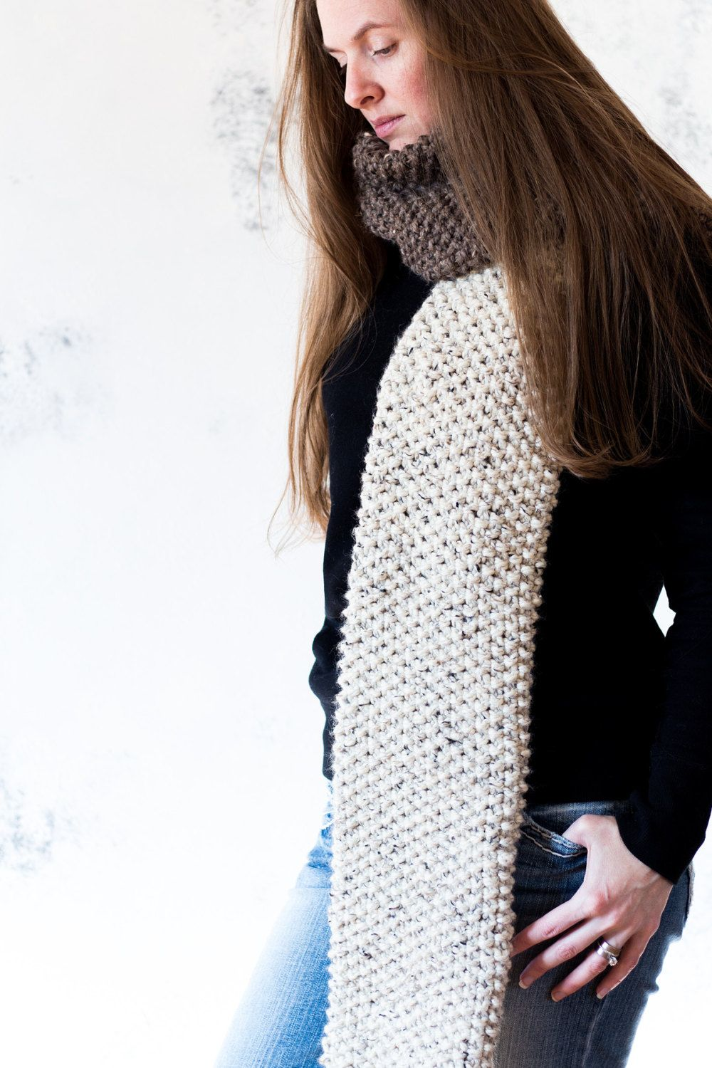 VALOR - Tube Scarf Knitting Pattern by bromefields on Etsy | Cowl ...