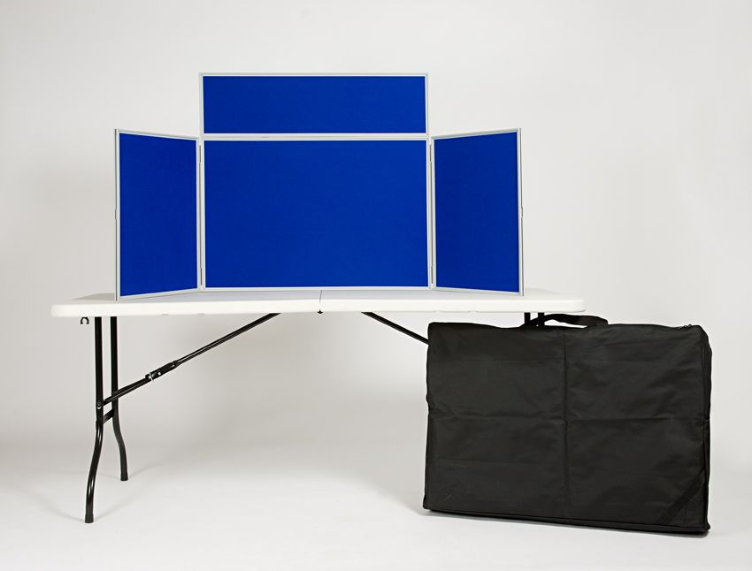 Table Top Folding Display Board Kit 3 Panel Landscape Boards With Header And Carry Bag 14 Colours Available View Our Tabletop Range At