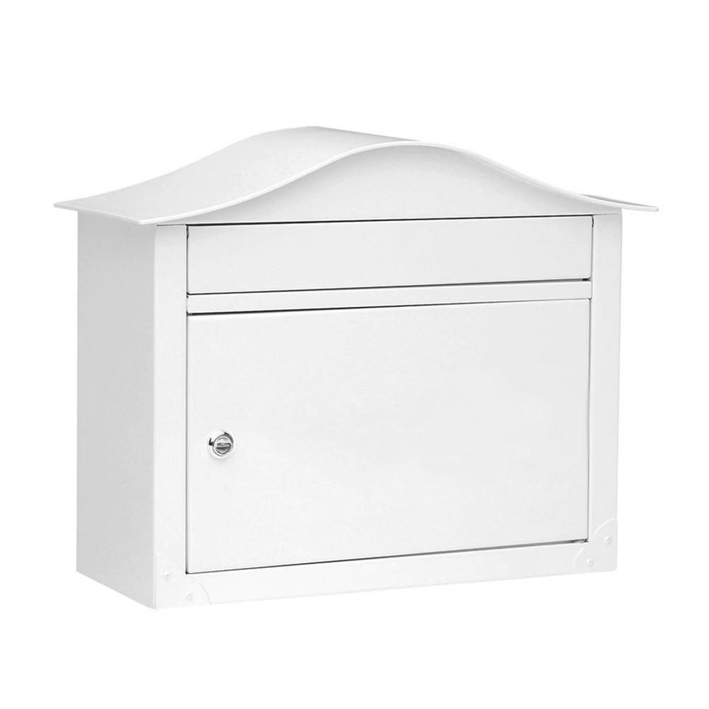 Lunada Wall-Mount Locking Mailbox, White