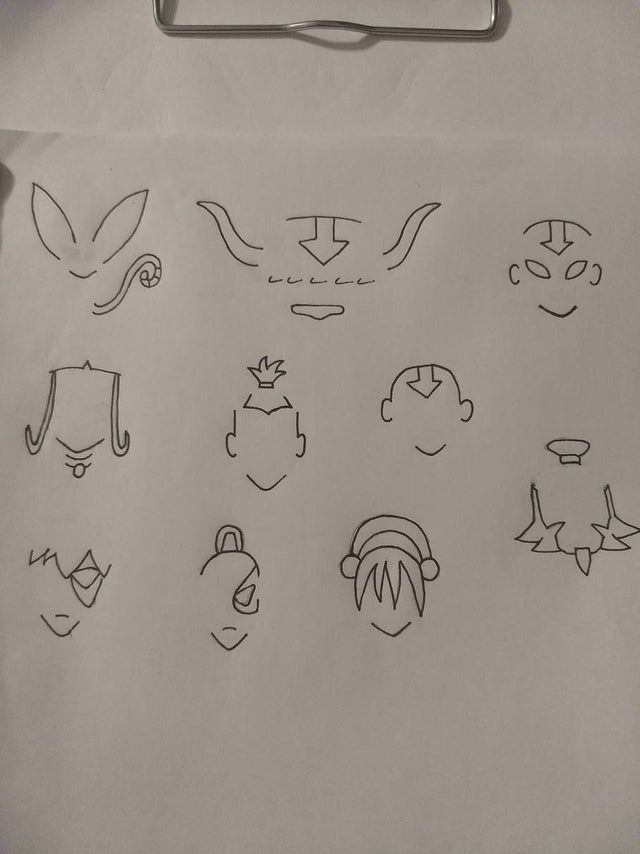 Minimalist character drawings