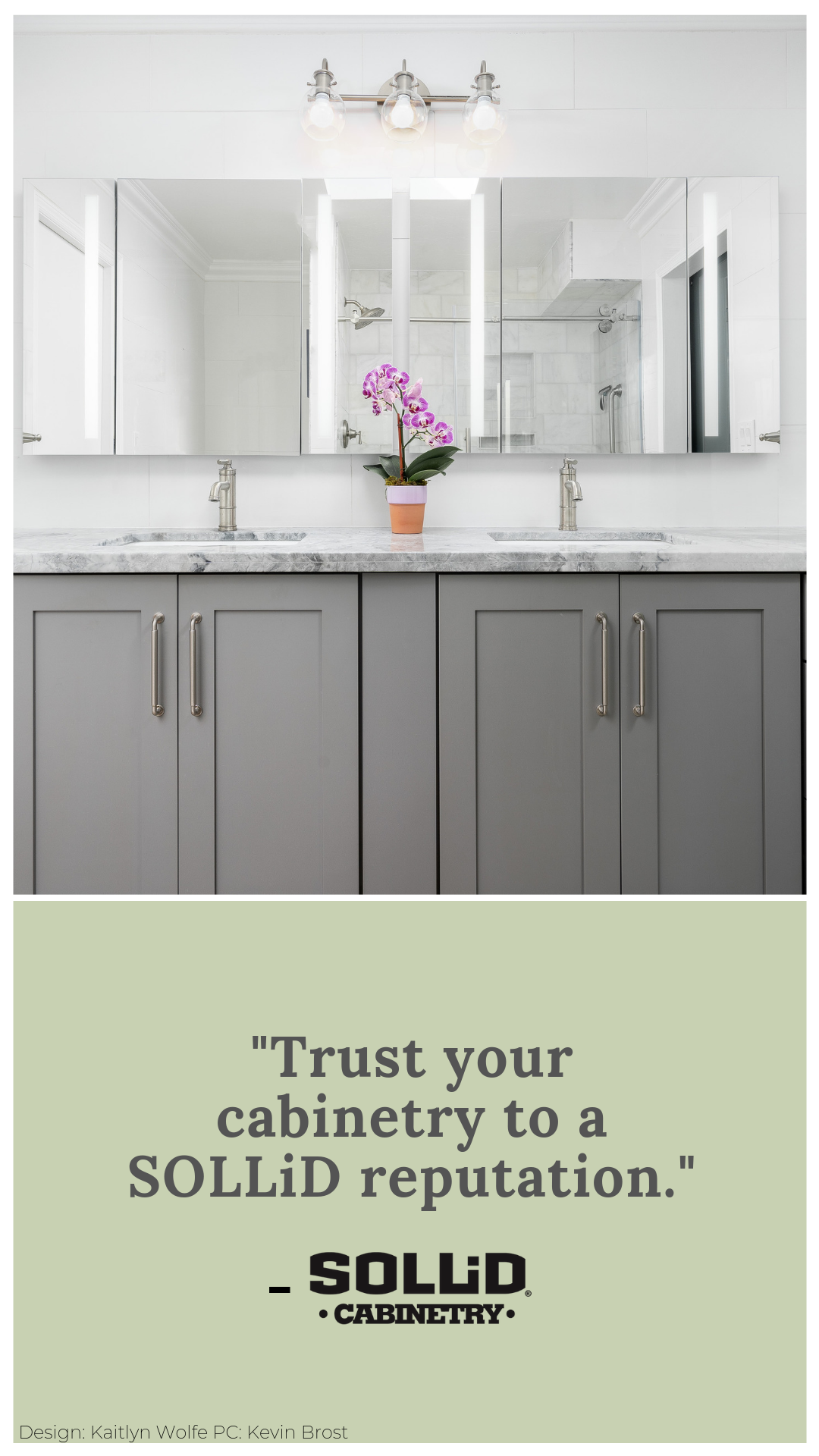Sollid Cabinetry Offers Semi Customized Kitchen Cabinets Bathroom Vanities And Built Ins With Images Custom Bathroom Kitchen Cabinets In Bathroom Custom Bathroom Vanity
