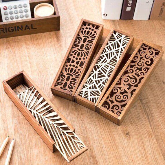 Wood - Pencil Case - Pen Case - Art box - Jewelry Box #journaling