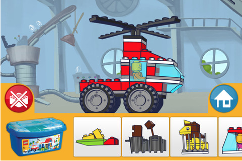 TOP 100 FREE APPS FOR KIDS - LEGO 4+   A charming little game by the Lego company for younger kids. It's free and there are no ads (actually the entire app is really an ad) and no in-app purchases. Just simulated Lego building, driving, and flying fun, without tons of pieces that can be stepped on or lost!