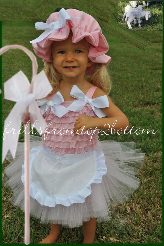 Newborn / Infant / Toddler Little Bo Peep Tutu and Ruffle Petti Romper Outfit ... Great Costume, Dress Up or Themed Party