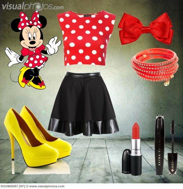 """""""Modern Day Minnie"""" by stephanie-christine ❤ liked on Polyvore"""