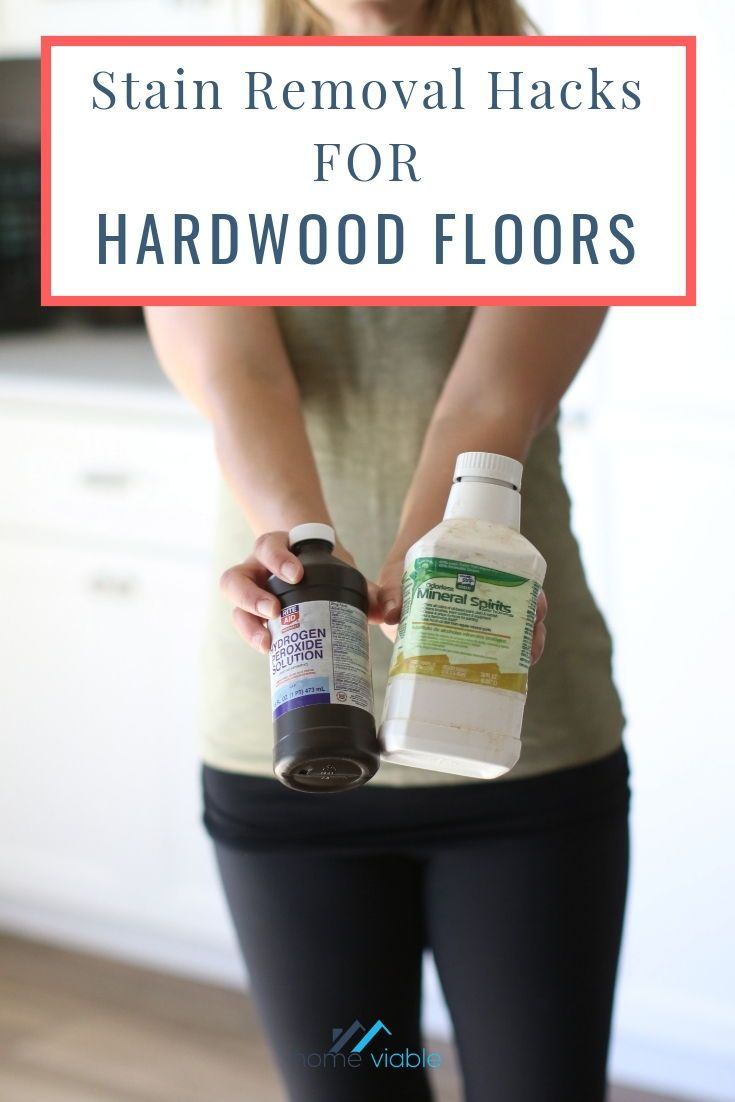 How to remove black stains from hardwood floors with
