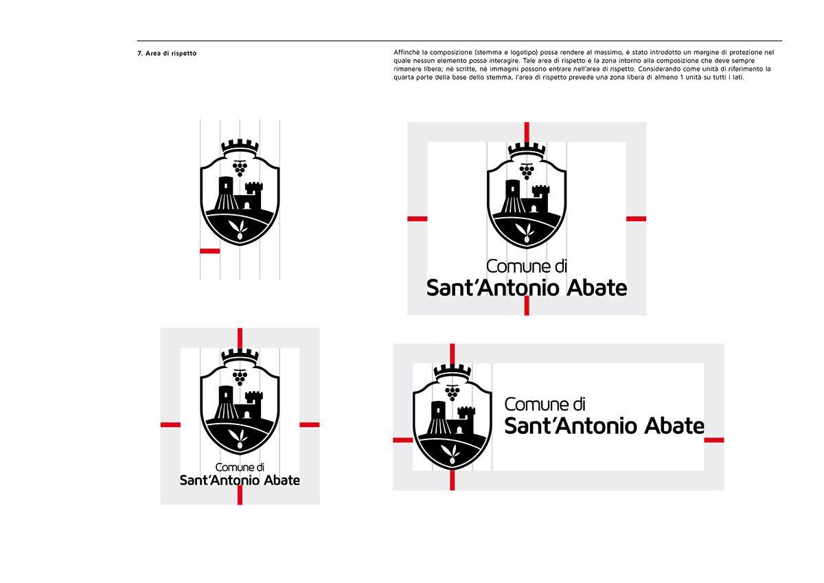 Stemma Del Comune Di Sant Antonio Abate Master Print On