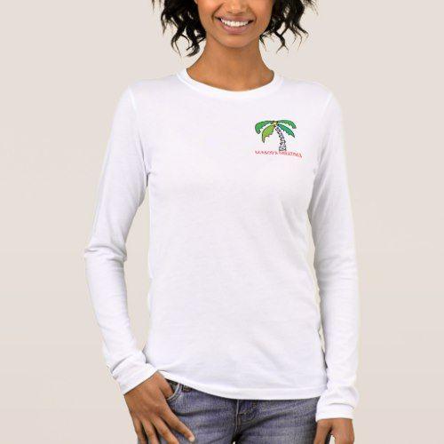 Vacanza Tropicale Manica Lunga T-shirt pjdGo