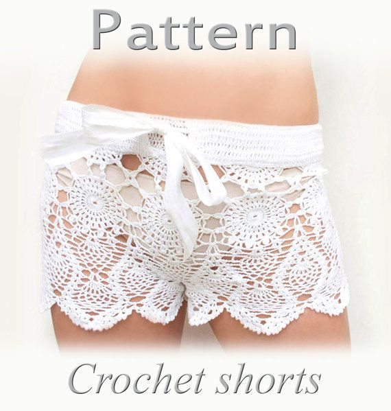 PATTERN Crochet beach shorts in cotton PDF crochet shorts Kate ...