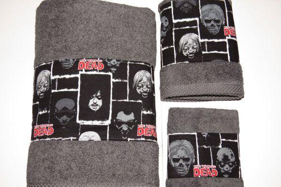 Custom Bathroom Towel Set The Walking Dead By Nikinaesembroidery