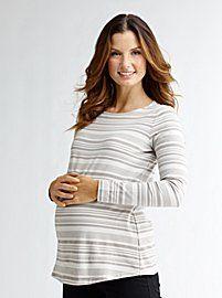 Maternity Boatneck Tunic Tee