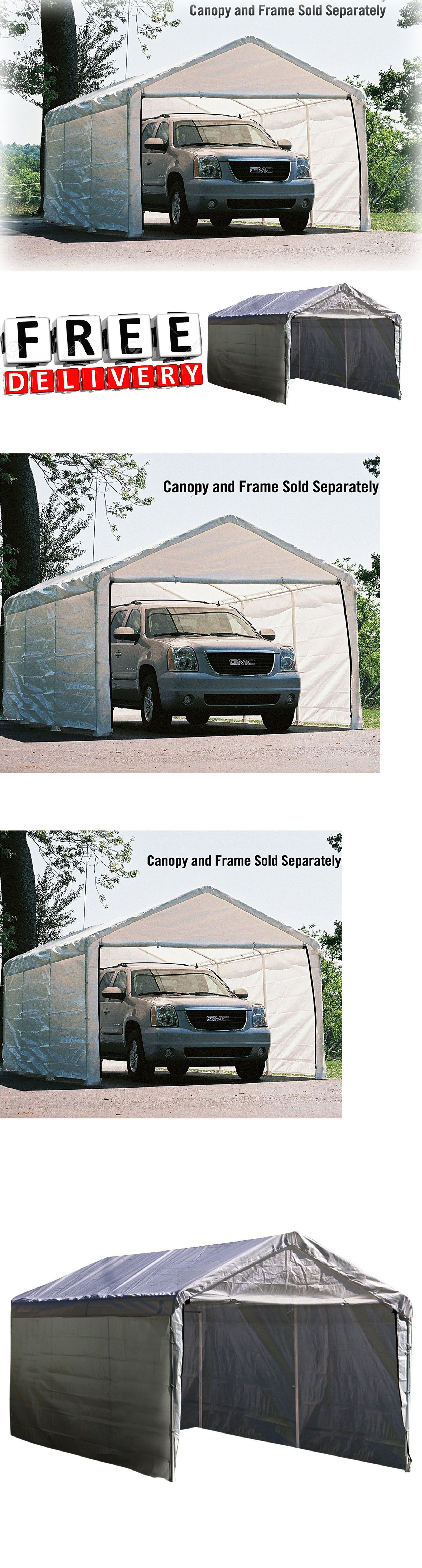 Canopy Enclosure Kit 12x20\' Shelter Portable UV Protection Garage ...