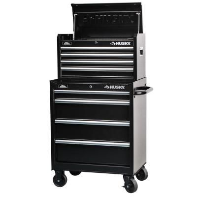 Husky 27 In 8 Drawer Tool Chest And Cabinet Set H4ch1r H4tr1r The Home Depot Tool Chest Drawers Tool Box Cabinet