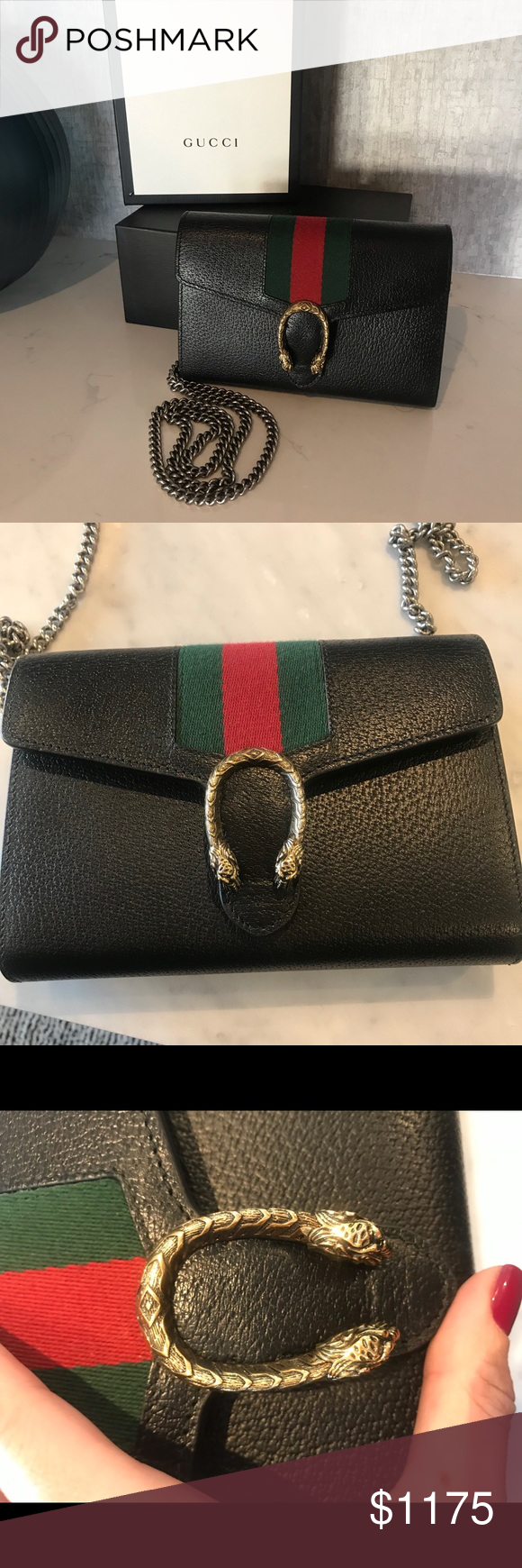 c7ace0b91d3 Gucci Dionysus web stripe leather WOC Gorgeous. Shows some basic wear from  carrying opening