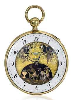 A Fine Unusual Swiss 18k Gold Skeletonized Openface Quarter Repeating Cylinder Watch W Varicoloured Gold Antique Watches Pocket Watch Antique Pendant Watches