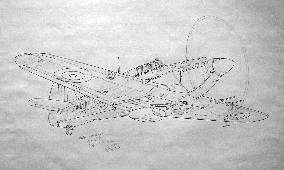 Рисунки карандашом самолеты военные