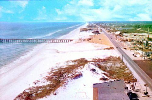 Aerial View Panama City Beach Florida Early 1960 S Panama City Beach Florida Panama City Panama Panama City Beach Vacation