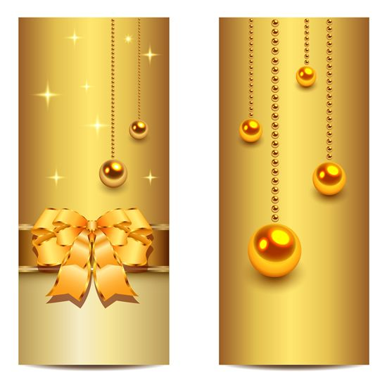 Christmas golden banner vector material 1 background pinterest christmas golden banner vector material 1 stopboris Images
