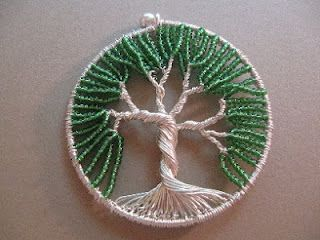 Easy Tutorial: Tree of Life Pendant- could make it bigger too.  It seems like this would be a relaxing craft to make.