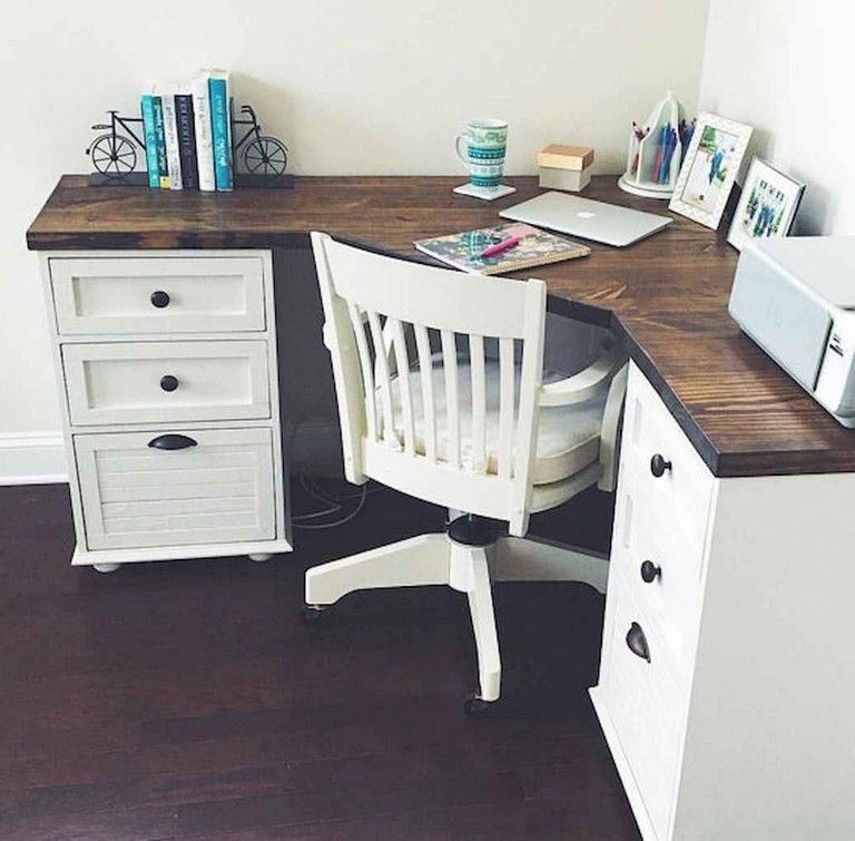 35+ Incredible DIY Farmhouse Desk Decor Ideas On A Budget images