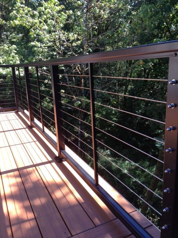 Balcony Fence Design: Stainless Steel Cable Railing