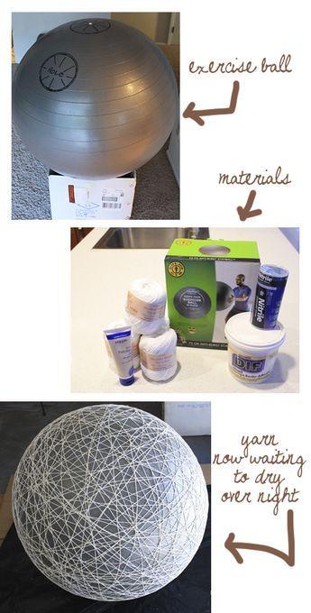 Make a huge ball using the exercise ball as a balloon