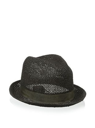 Kangol Luxe Men's Natural Straw Player (Charcoal)