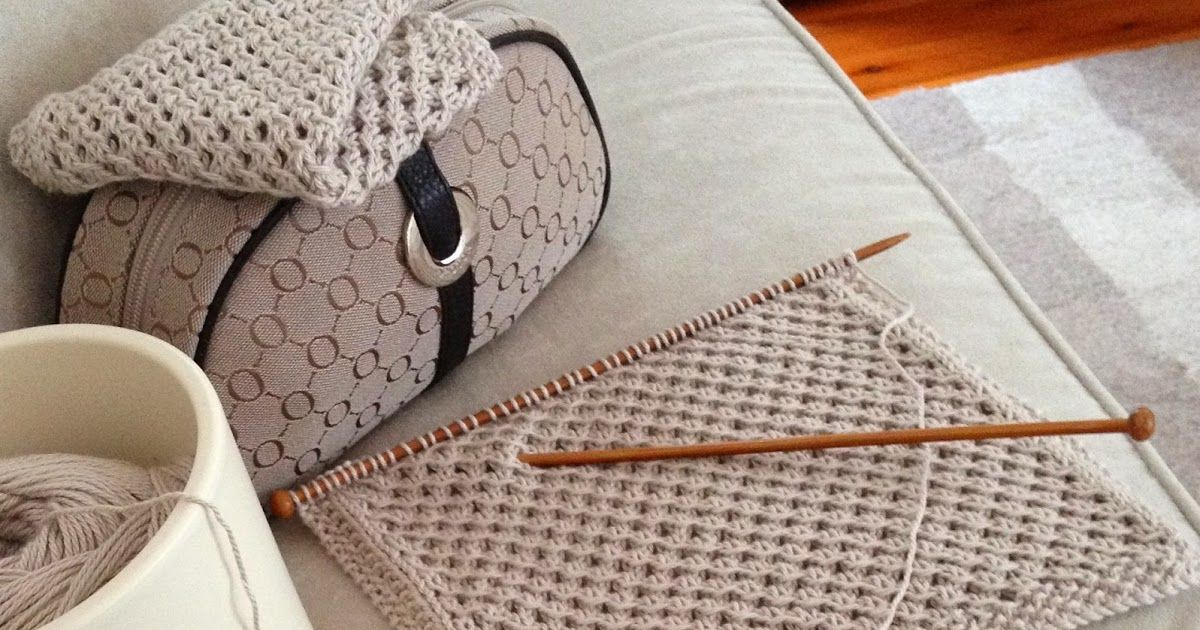 My Oroton Knitting Bag Has Inspired Me To Create A Washer Pattern To