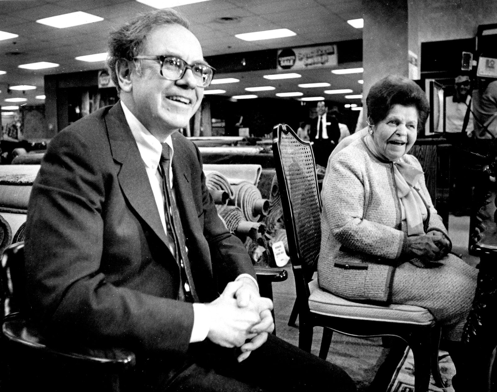 Warren Buffet And Rose Blumkin Announcing The Partnership