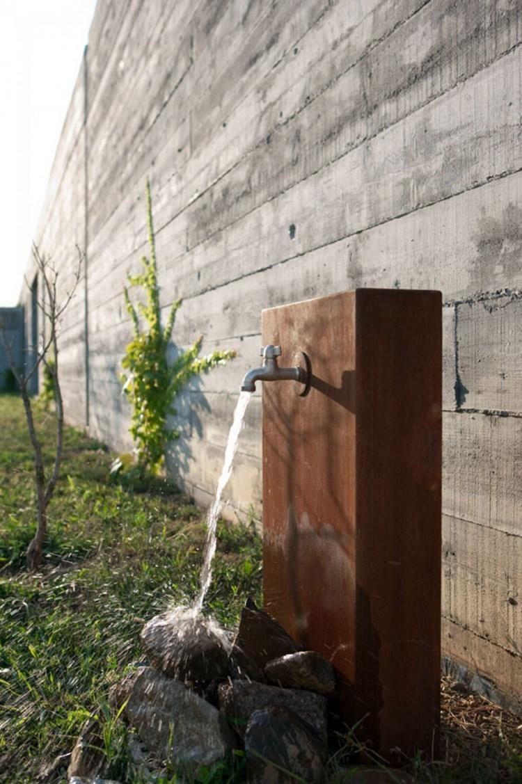 Cortenstahl Die Beste Losung Fur Den Garten Neueste Dekor Wasserhahn Garten Cortenstahl Brunnen Garten
