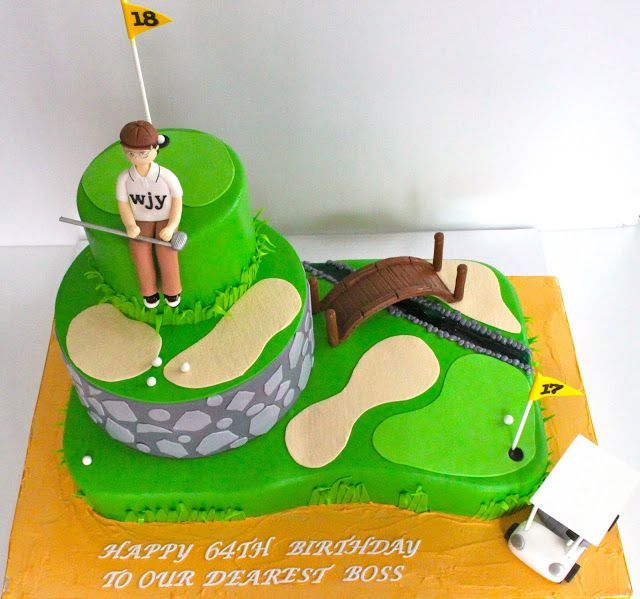 Celebrate With Cake!: Golf Themed Cake