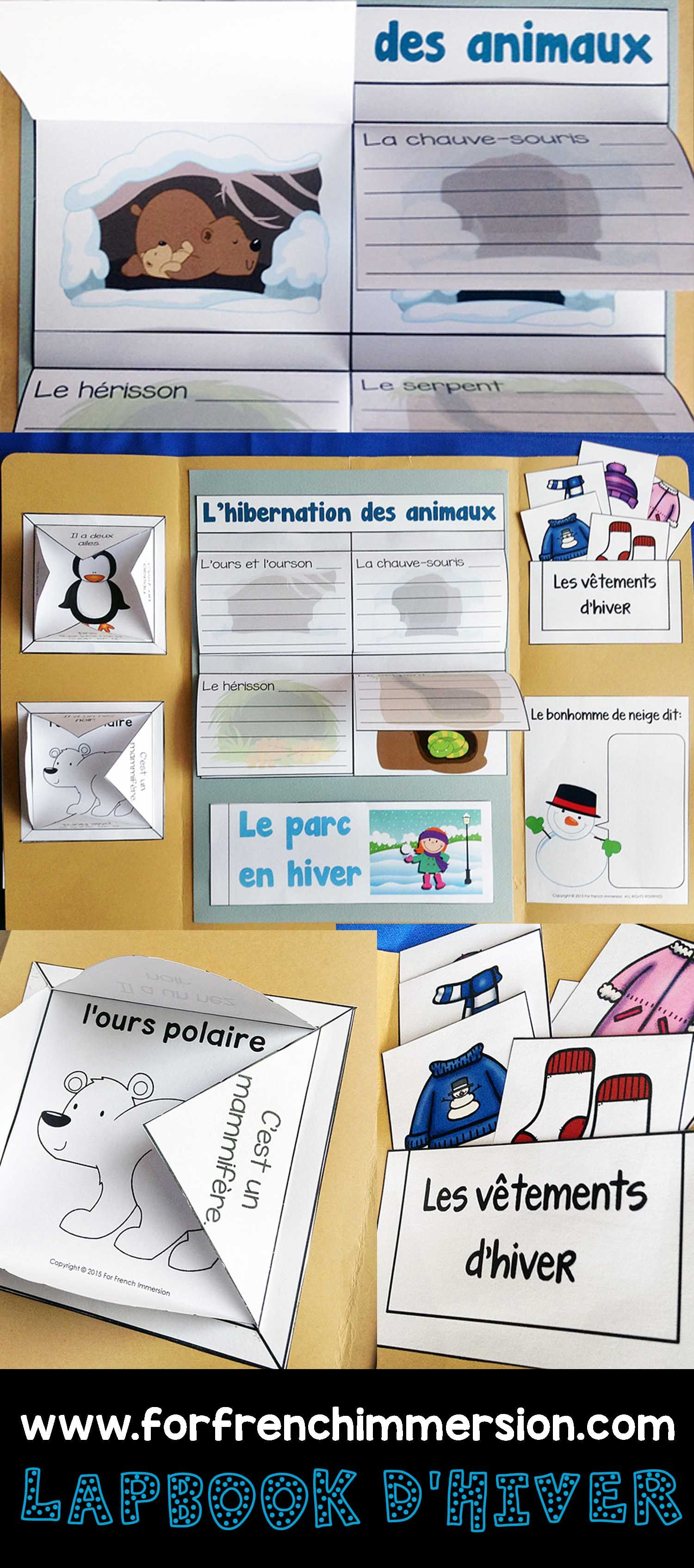 French Winter Lapbook Lapbook D Hiver
