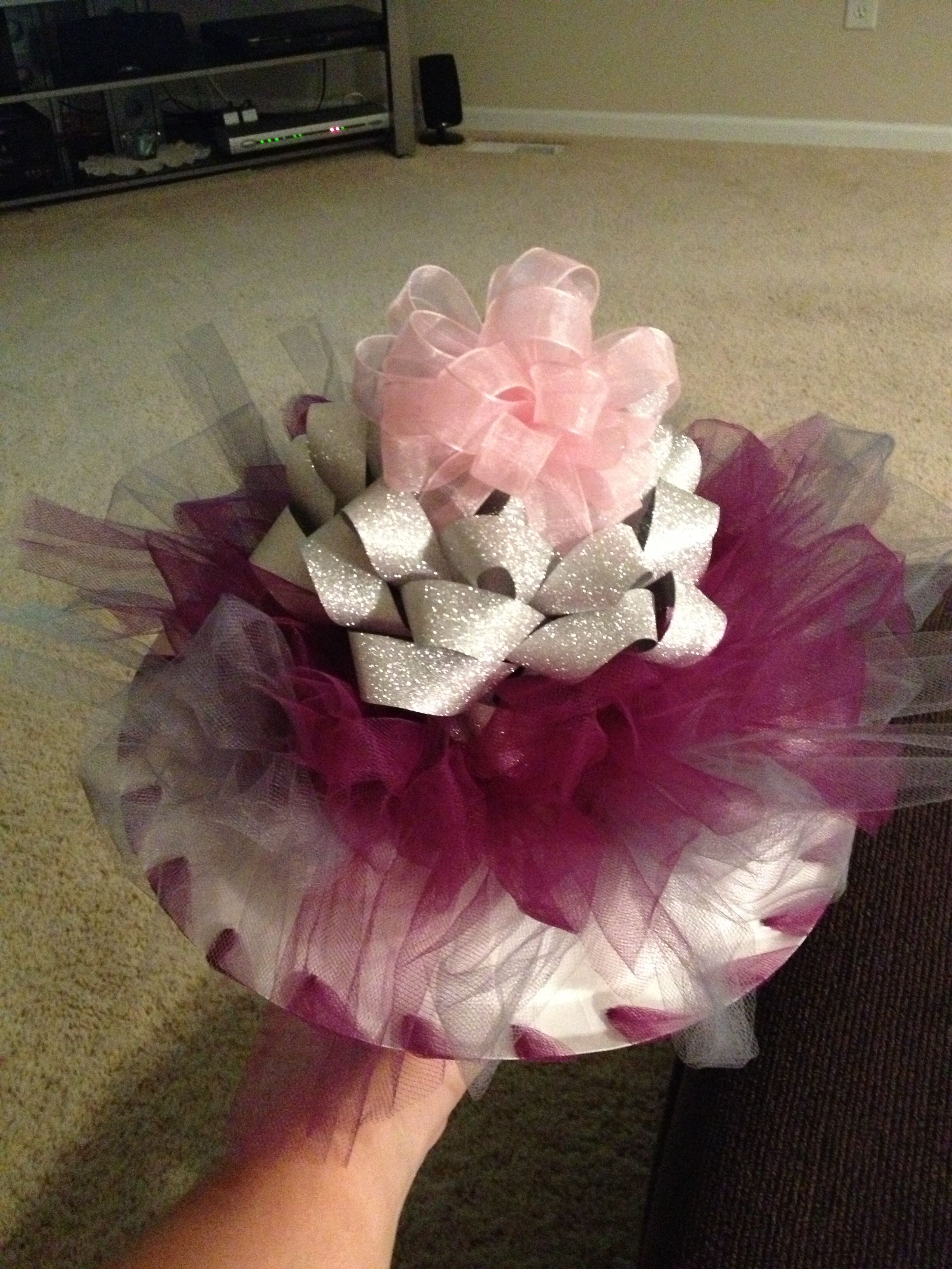 a rehearsal bouquet i made for my friends wedding i made it from the ribbons that i saved from her bridal shower not too shabby if i say so myself