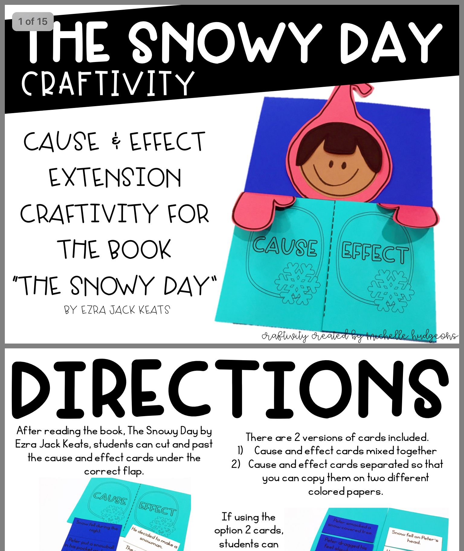 Pin By Patricia Stamboulian On Classroom Ezra Jack Keats Craftivity Cause And Effect