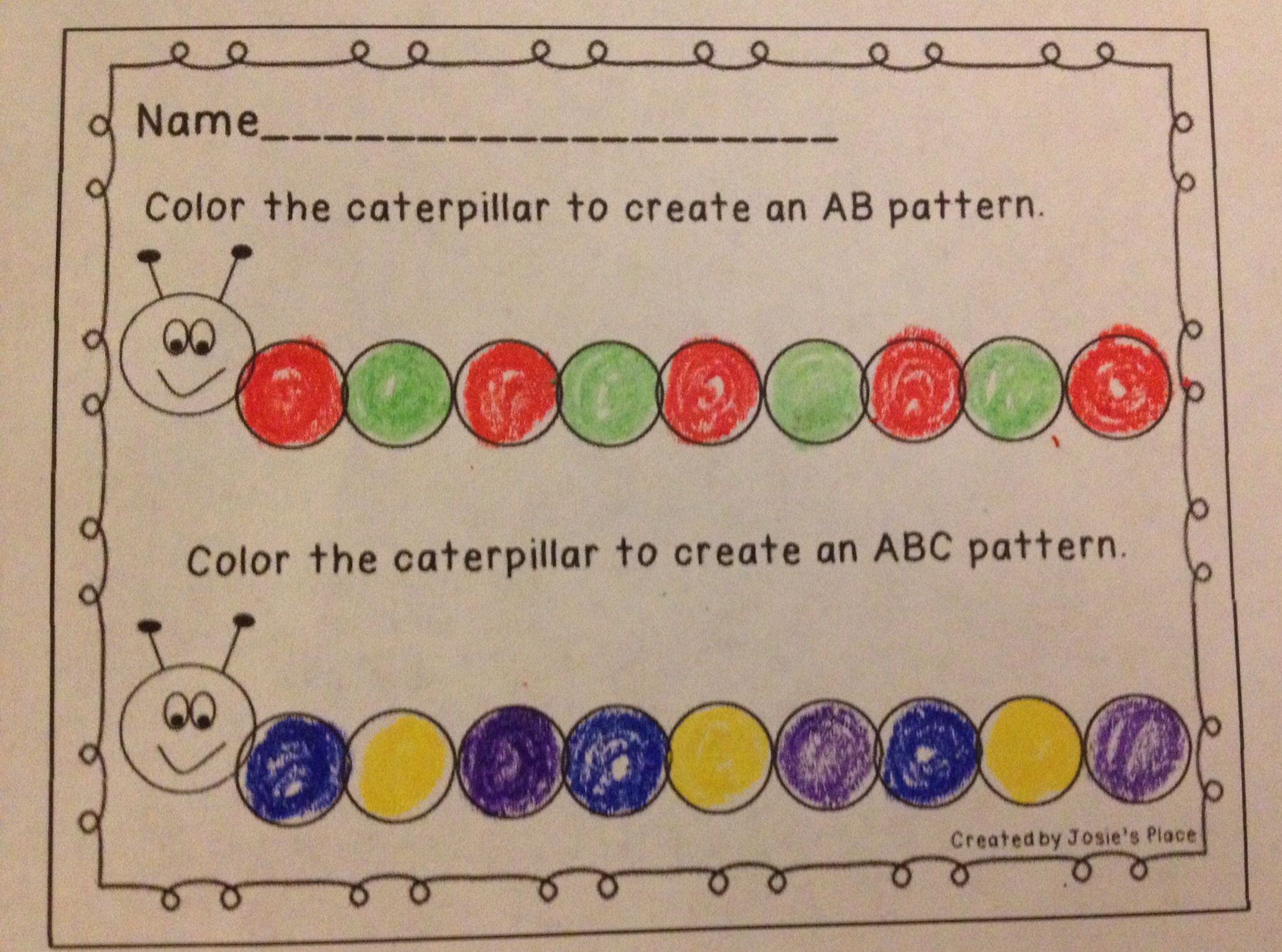 Pre K Math Ab Patterns Worksheets And Activities Ab Pattern Worksheet Ab Patterns Pattern Worksheet [ 2336 x 1200 Pixel ]