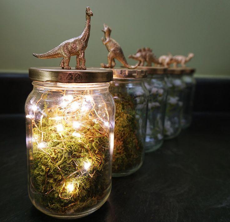 Dinosaurs and pickles combine in this ultra easy centerpiece diy dinosaur jar centerpiece diy solutioingenieria Gallery