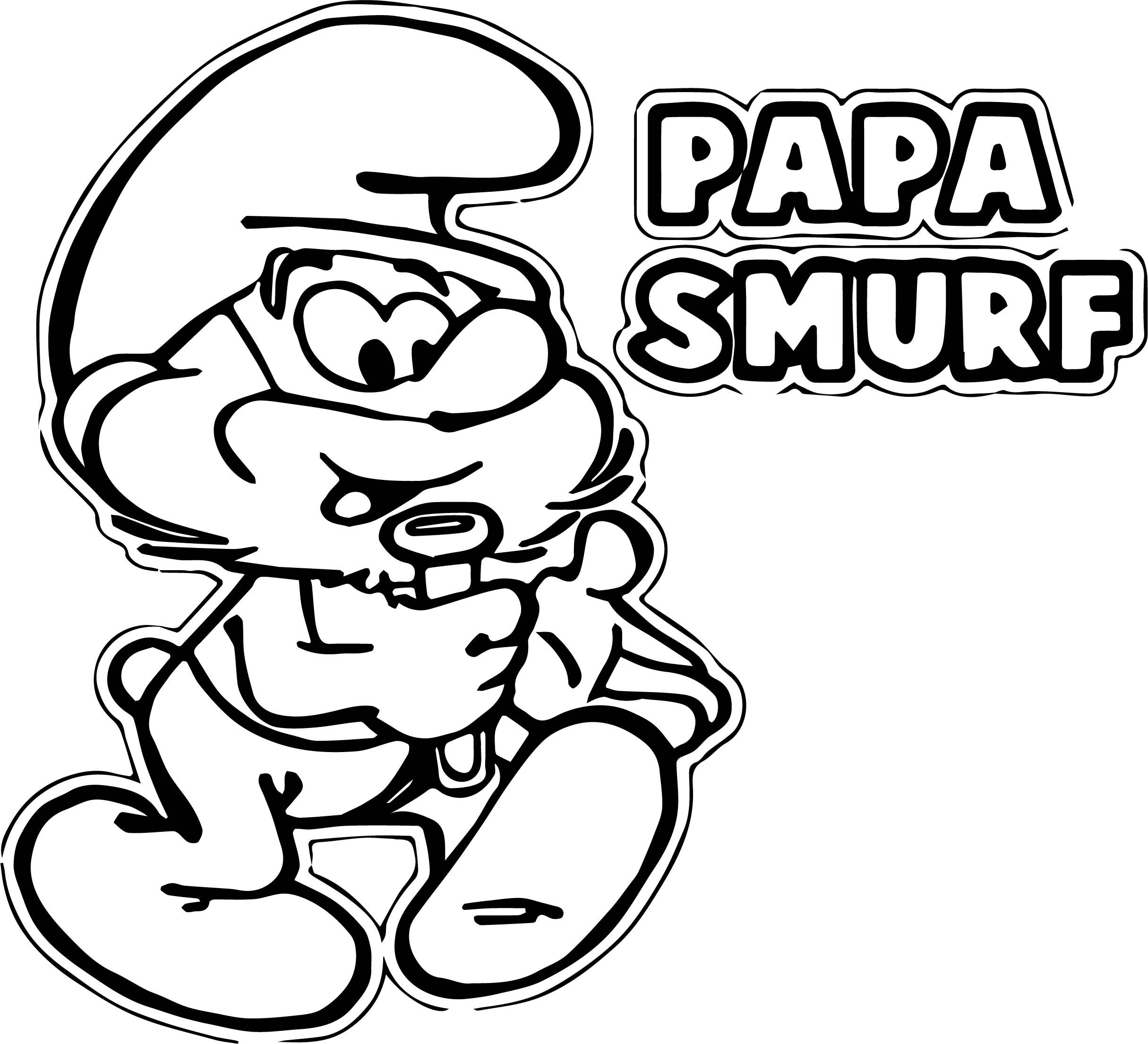 awesome Papa Smurf Coloring Pages | wecoloringpage | Pinterest