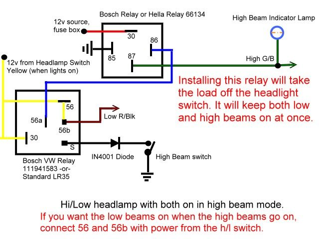 6 pin flasher relay wiring diagram  Google Search