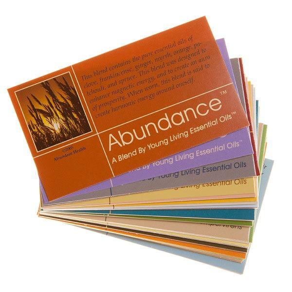 3000Set - Young Living Sample Cards Assortment Pack (pkg of 52 - sample cards