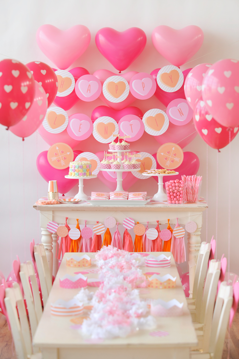 51379ee99 Roses are red, violets are blue, throw the ultimate Valentine's Day party  with Minted's Conversation Heart party decor. Image courtesy of The Happy  Wish Co.