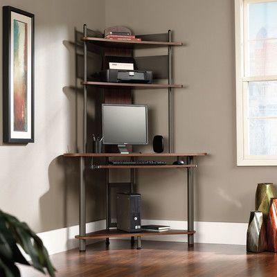 Sauder A Tower Computer Desk With Hutch Wayfair Home