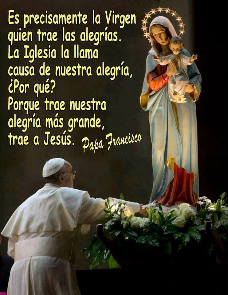 Causa De Nuestra Alegria Mensajes Papa Francisco Pinterest